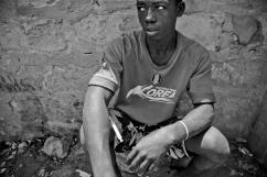 Consommation d'héroïne par injection. District de Temeke, Dar es-Salaam.