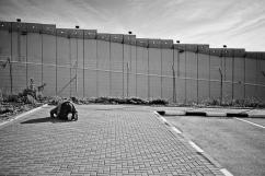 A l'intérieur du checkpoint de Gilo, Bethléem, territoire palestinien occupé.