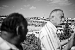 Le mur de séparation, près de Bethléem, territoire palestinien occupé.