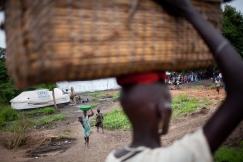 Pagaak, région de Gambella, Ethiopie. Pagaak est l'un des points d'entrée en Ethiopie pour les réfugiés sud-soudanais. Juin 2014.