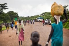 Pagaak, région de Gambella, Ethiopie. Pagaak est l'un des points d'entrée en Ethiopie pour les réfugiés sud-soudanais.