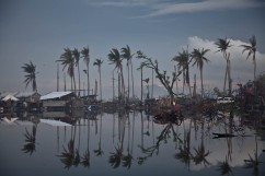 La ville de Tacloban aux Philippines, après le passage du typhon Haiyan. Novembre 2013