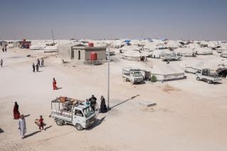 Camp d'Ain Issa, Syrie. Vue générale du camp d'Ain Issa.
