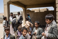 Yemen, gouvernorat d'Amran, Harf Sufyan, mars 2018. Communauté d'Al Sura.