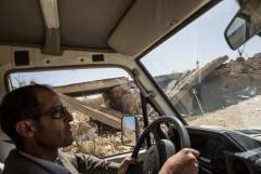 Yemen, gouvernorat de Saada, mars 2018. La route entre Saada et Khamer, bombardée par la coalition internationale dirigée par l'Arabie Saoudite et les Emirats arabes unis.