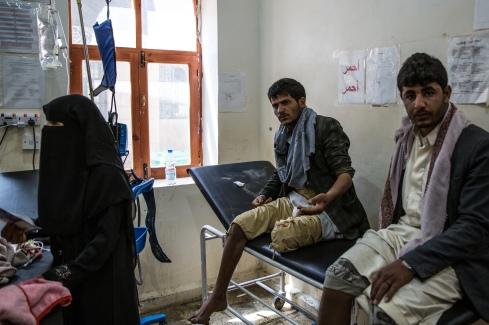 Yemen, gouvernorat de Saada, Haydan, mars 2018. Salle des urgences de l'hôpital MSF à Haydan. En 2017, près de 7000 patients y ont été reçus.