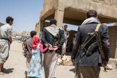 Yemen, gouvernorat d'Amran, Harf Sufyan, mars 2018.