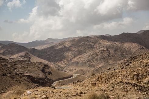 Yemen, gouvernorat de Saada, mars 2018. Route entre Haydan et Saada.